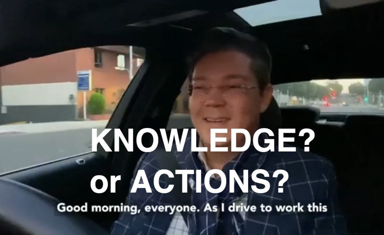 What's more important? Knowledge or action? 🤔🤔🤔 Christophe Choo Coldwell Banker Beverly Hills & LA.
